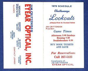MiLB BASEBALL 1979 CHATTANOOGA LOOKOUTS pocket schedule CLASS  AA  INDIANS