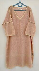 Isabel Marant Etoile Pink Beverly Embroidered Tunic Size S