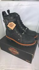 Mens Harley Davidson Rambert Biker Riding Harness Zip-Up Boots Size UK 11