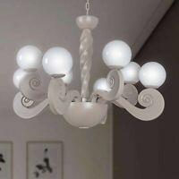 Lampadario contemporaneo 4+4 luci sfere in vetro soffiato design MASIERO BOTERO