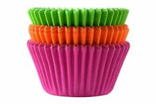 NEON Cupcake Cases - Pack of 75 Pink, Orange, Green Muffin Cup Cake