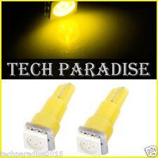 1x Ampoule T5 W1.2W W2X4.6D ( B8.3D / B8.5D ) LED SMD Jeune Yellow Neo Wedge