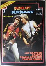 FACHBLATT MUSIC MAGAZIN 1982 # 7 - FOREIGNER GAMMA CHARLY ANTOLINI JAY GRAYDON