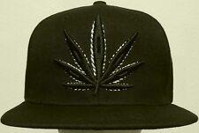 MARIJUANA HIGH CANNABIS CHRONIC KUSH POT HEMP LEAF WEED PLANT CAP HAT SNAPBACK