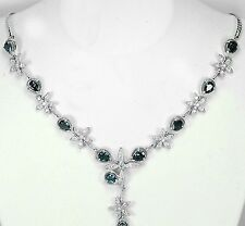 """DESIGNER!! NATURAL!! AAA QUALITY LONDON BLUE TOPAZ 925 SILVER NECKLACE 18"""""""