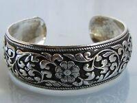 New Tibetan Tibet Silver Totem Bangle Cuff Bracelet