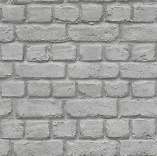 RASCH GREY BRICK EFFECT FEATURE WALL DESIGN WALLPAPER 226720