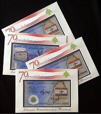 D/99 Replacement 50000 Livres  COMMEMORATIVE  ENVELOPE  UNC Polymer 2013 Lebanon