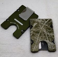 Camo, Billet Vault Aluminum Wallet/Credit Card Holder, RFID protection, Green