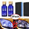 2Pack Car Headlight Polish Liquid Lighting Restoration Kit Repair Polish Tool UK