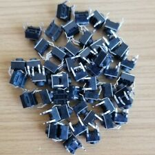 50pcs - New 6x6x5mm Momentary Tactile Push Switch DIP Button 4 Pins