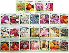 Set of 25 Valley Green Flower Seed Packets Including 10 Or More Varieties 2019
