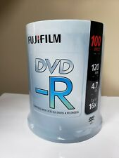 100 FUJIFILM DVD-R Blank NEW Sealed Recordable Media Archive Storage Data