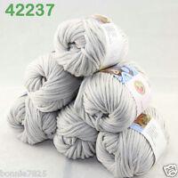 Sale Lot 6ballsx50g Soft Worsted Cotton Chunky Bulky Hand Knitting Shawl Yarn 37