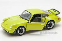 Porsche 911 Turbo green, Welly 43683F, scale 1:34-39, model toy car gift