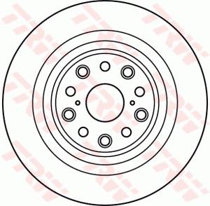 TRW Brake Rotor Rear LH DF6038S fits Lexus LS LS460 (USF40R), LS600h (UVF45R)