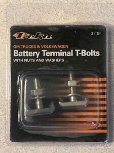 2 Battery Cable Terminal Connector T-Bolts 2007-2014 Chevy GMC Escalade Truck