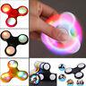 LED Flashing Fidget Hand Spinner Finger Tri-Spinner Toys Light Up Stress Toy UK