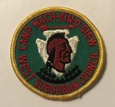 Camp Mach-kin-o-siew West Suburban Council PAtch Mint CC3