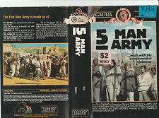 5 MAN ARMY FIVE MAN ARMY PETER GRAVES JAMES DALY BUD SPENCER RARE PAL VHS VIDEO