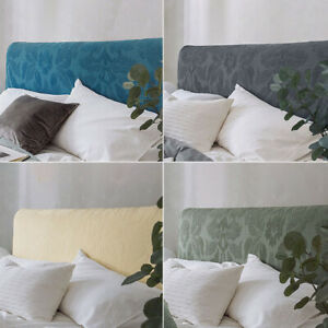 Solid Printing Bedside Cover Stretch Bed Headboard Slipcovers Bedside Clean