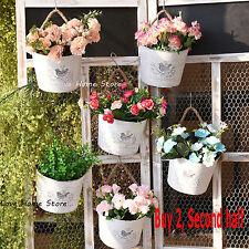 Hanging wall Planters Succulent Plant pot Container basket Box Flower Pots metal