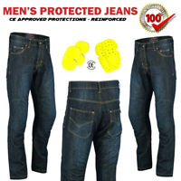 Mens Motorbike Motorcycle Jeans Trouser Stretch Denim Pants Hip & Knee Armour CE