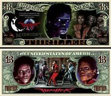 MICHAEL JACKSON. THRILLER.  Million Dollar USA . Billet de commémoration