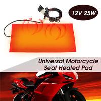 25W Universal Motorcycle Waterproof ATV Carbon Fiber Seat Heater Warmer Pad