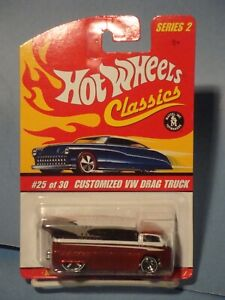 HOT WHEELS CLASSICS VW DRAG BUS! NEW! NM! RED!