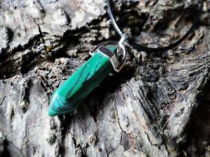 Kristall  Pendel Anhänger mit Leder Halskette