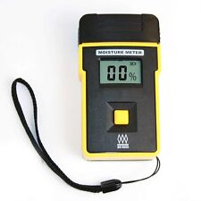 Pin Type Digital Damp Moisture Meter 5-45% for Wood Bamboo Cotton Tobacco Paper