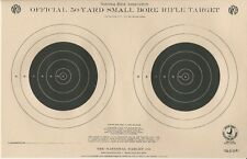 """Tq-3/2 Nra Official 50 Yard Smallbore Rifle Target, 9"""" x 14"""", Paper or Tagboard"""
