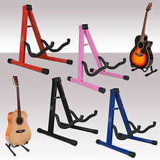 More details for free standing folding metal acoustic electric universal a frame guitar stand