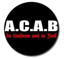 ACAB  Punk Button Pin 2,5cm NEU Punkrock Oi! Skinhead Cops Bastards A C A B