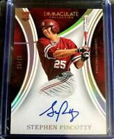 2016 Immaculate Collegiate 23/25 STEPHEN PISCOTTY Rookie RC Autograph Stanford
