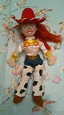 """DISNEY STORE 10"""" TALL TOY STORY JESS CHARACTER BEANIE SOFT TOY WITH PLASTIC HEAD"""