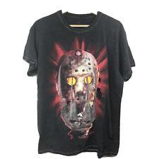Halloween Horror Nights 25 Large Freddy Vs Jason Faded Black Short Sleeve Tshirt