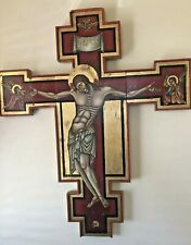 Large Oil On Board Crucifix Gallery Displayed John Xavier Strauz Day Of The Dead