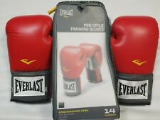 New Boxing Gloves Pro Style Everlast 14 Ounce Sparring Heavy Bag Training