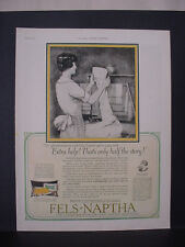 1925 Fels-Naptha Laundry Soap Woman doing Laundry Vintage Print Ad 11803