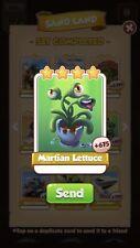 25 X Martian Lettuce Coin Master Card