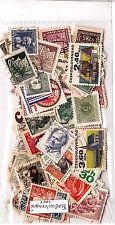 EX-TCHECOSLOVAQUIE 100 timbres oblitérés TOUS DIFFERENTS bon etat  K100