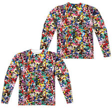 """Mighty Morphin Power Rangers """"Crowd Of Rangers"""" 2 Sided Dye Sublimation Long Slv"""