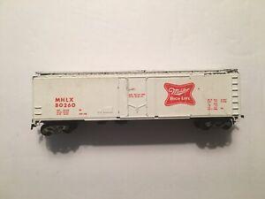 Vintage Athearn Blue Box Miller Beer High Life White 50' Box car