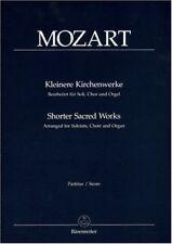 Kleinere Kirchenwerke für Soli, Chor und Orgel, Partitur / Shorter Sacred Wor...