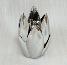 Silver candle holder RRP $69.95 flower leaf style - home deco / ornament /chrome