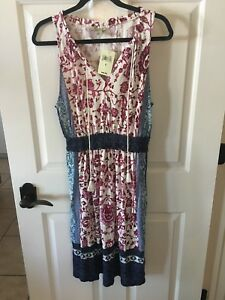 Womens Lucky Brand Longer Length Summer Dress size S NWT $99