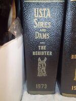 1973 USTA Sires & Dams Yearbook Trotting Register trotting horses harness racing
