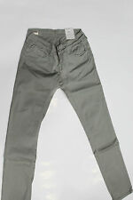 MELTIN POT JEANS WOMAN PANTALONE Donna Cotone SKINNY FIT PUSH UP Grigio - Tg 42